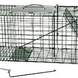 Vangkooi klein model 66 x 24 x 31,5 cm, verzinkt + groene poedercoating