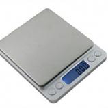 Digitale compacte weegschaal RVS, max. 500 gr / 0,01 gr