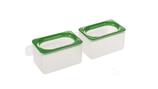 Voer-/ waterbakje dubbel 2 x 150 ml met anti morsrand en bevestiging