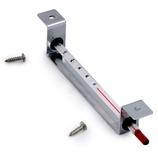 Houder voor Ø 6mm thermometer + 2 rubbertjes + 2 schroeven