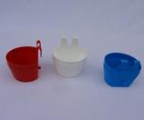 Voer-/ waterbakje CUP 250 ml, diverse kleuren.