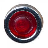 Neonlampje ø20 mm LED rood, voor gat ø13 mm, 230 V