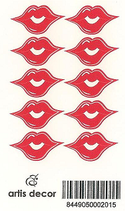 Labios adhesivos medianos