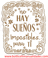 """Etiqueta """" No hay sueños imposibles para ti"""""""
