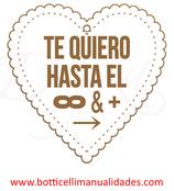 """Corazón """"Te quiero hasta el infinito y mas alla"""""""