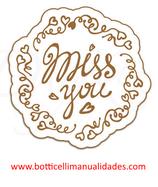 """Etiqueta """"Miss you"""""""
