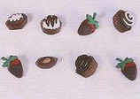 Botones fresas y pasteles