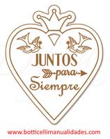 """Etiqueta """"Juntos para siempre"""""""