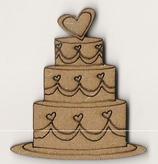 Silueta tarta de boda