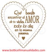 """Corazón """"Que  bonito encontrar al amor de tu vida todos los días..."""""""