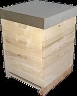 Dadant US 12er-Magazin Honigraumzargen  mit Schienen aus Edelstahl