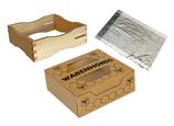 SET (Dadant US Rähmchen, Karton- und Zellglasverpackung für Wabenhonig)