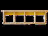 Dadant US Honigraumrahmen inkl. 4 Holzrähmchen für Wabenhonig und Verpackung