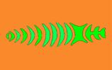 Tela zig-zag impresa con color y librea. Para entelar un pez