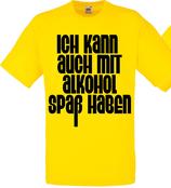 Spass mit Alkohol Shirt Gelb