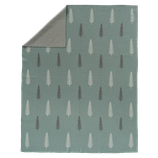 Fresk - Couverture tricot 80x100 cm Forest green