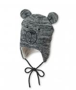 Sterntaler - Bonnet bébé gris ourson