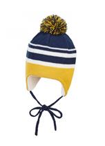 Sterntaler - Bonnet bébé bleu et jaune