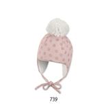 Sterntaler - Bonnet bébé rose à pois