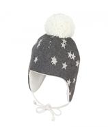 Sterntaler - Bonnet bébé gris étoiles