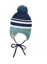 Sterntaler - Bonnet bébé navy/bleu clair