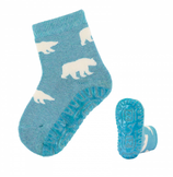 Sterntaler - Chaussettes anti-dérapantes ours turquoises