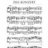 Das Konzert - Noten