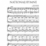 Nationalhymne - Noten