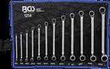 Doppel-Ringschlüssel-Satz | gekröpft | SW 6 x 7 - 30 x 32 mm | 12-tlg.    1214