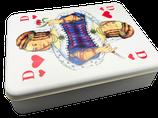 Blechdose mit Boards und Spielkarten