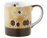 Becher Kaffebohnen Flügel