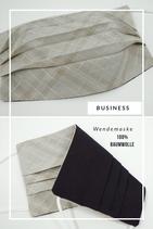 Businessmaske Karo grau/schwarz