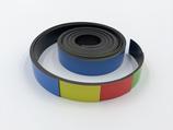 5 bunte Magnetstreifen bunt | 1000x20mm