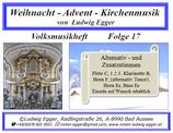 Volksmusikheft 17 - Weihnacht - Advent - Kirchenmusik
