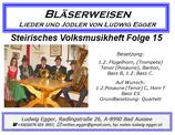 Volksmusikheft 15 - Bläserweisen, Lieder & Jodler