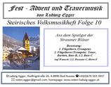 Volksmusikheft  10 - Fest - Adevent & Trauermusik