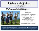 Volksmusikheft 1 - Lieder & Jodler