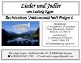 Volksmusikheft 6 - Lieder & Jodler