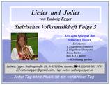 Volksmusikheft 5 - Lieder & Jodler