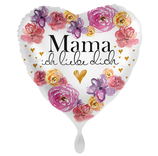 "Folien Ballon 17"" - Mama Liebe"