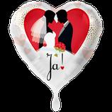 """Folien Ballon 18"""" - Ja! Brautpaar"""