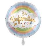 "Folien Ballon 18"" - Konfirmation Regenbogen"