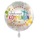 """Folien Ballon 17"""" - Kommunion Glückwunsch"""