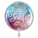 "Folien Ballon 18"" - Taufe Glückwunsch"