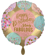 "Folienballon 18""- Happy Birthday Stay Fabulous"