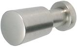 Möbelknopf Zink, edelstahl-optik, ø 12 mm