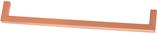 Möbelgriff Profil 8,5x8,5 mm, Serie 2205, Zamak gebürstet kupferfarbig