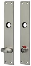 WC-Langschild Mega 36.440, matt vernickelt, eckig, Grösse 200x35 mm, Führung 16 mm, Distanz 78 mm