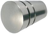 Möbelknopf Zink, edelstahl-optik, ø 20 mm