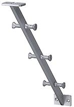 Huttablarstütze, Serie 2203, Ausführung ohne Tablarkonsole, Aluminium farblos eloxiert